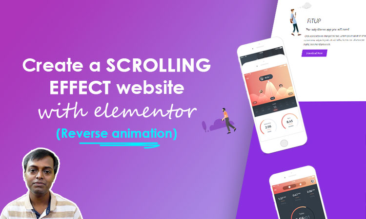 scrolling effect website with elementor