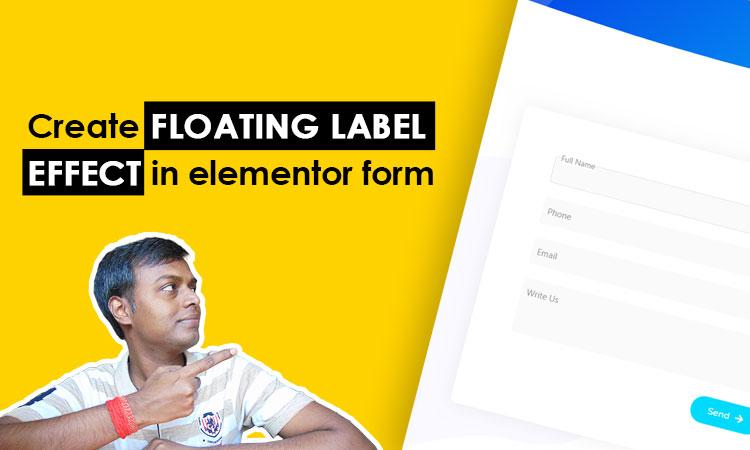 floating label effect in elementor form