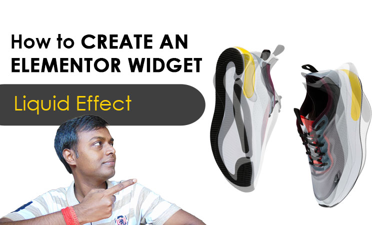 How to create an elementor widget-liquid effect