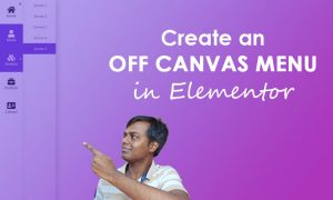 create an off canvas menu with elementor