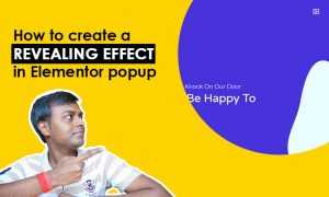 How to create revealing effect in elementor popup