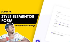 How to style elementor form