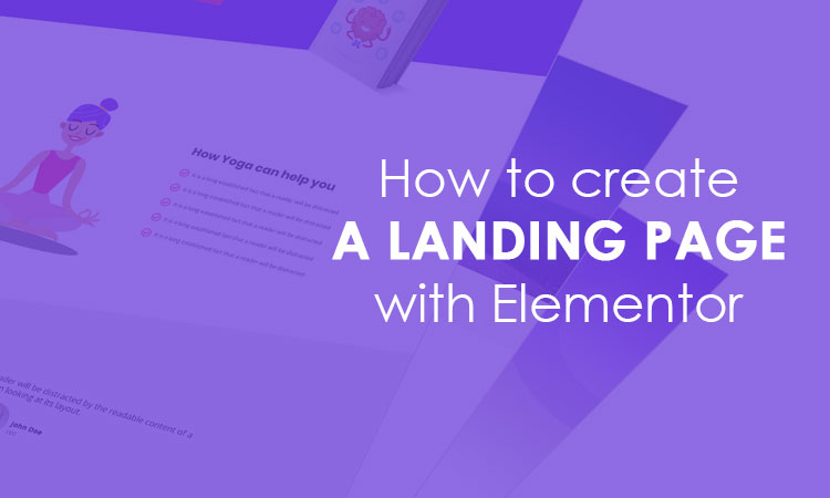 create a landing page with elementor