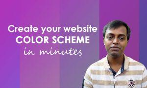 create your websites color scheme