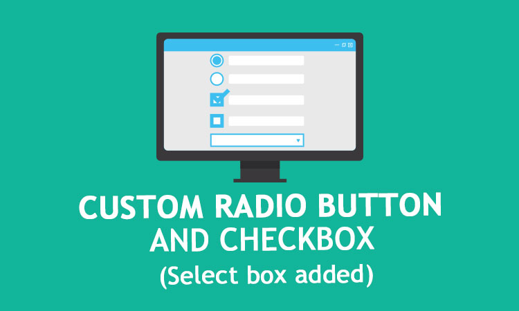 How to make custom radio button and checkbox with css