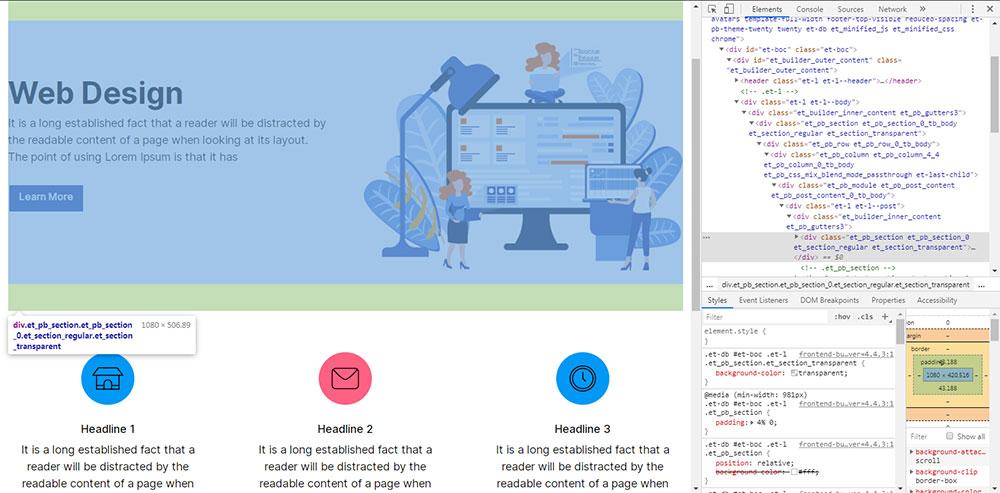divi html code