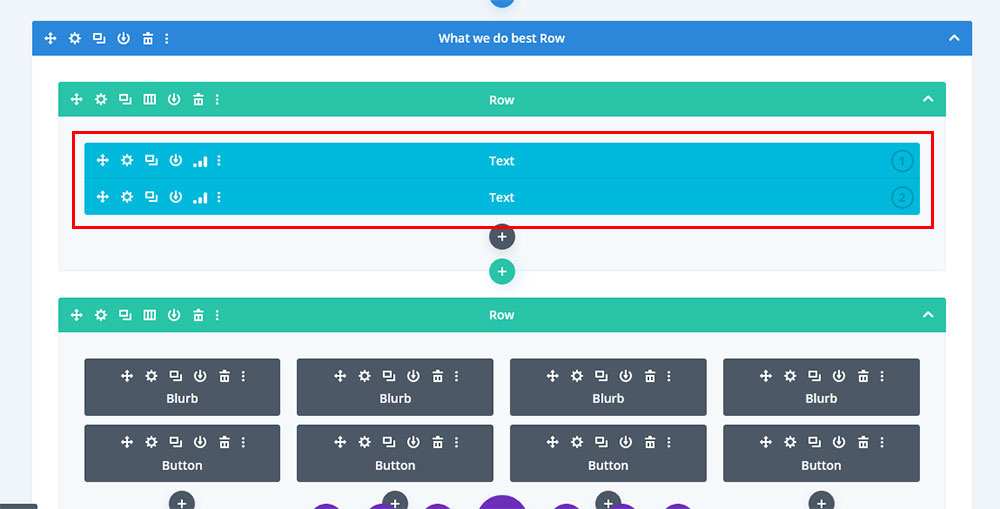 divi split test elements