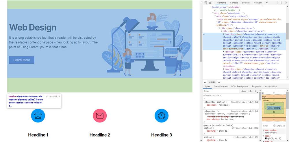 elementor html code