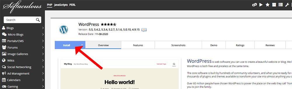 greengeeks-wordpress-install-btn