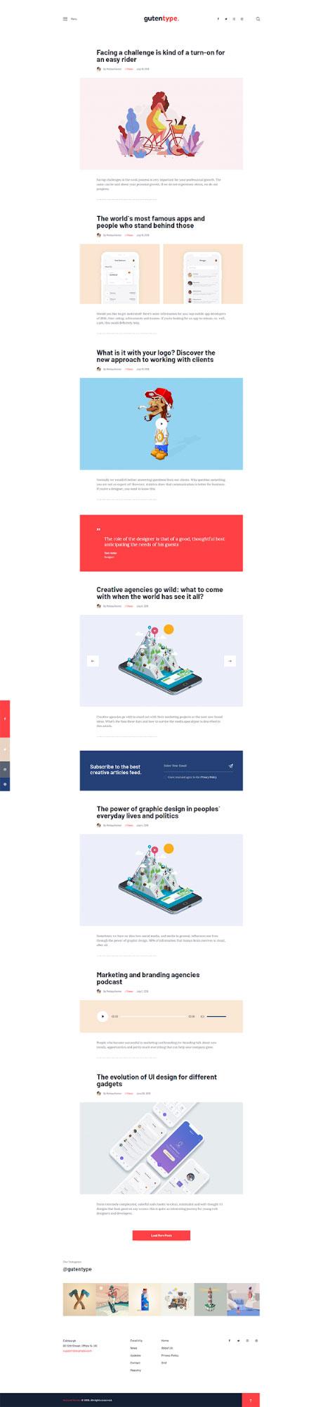 gutentype-blog-layout