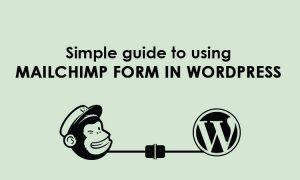 mailchimp form in wordpress